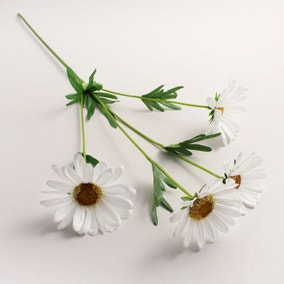 Artificial Daisy White Single Spray 72cm