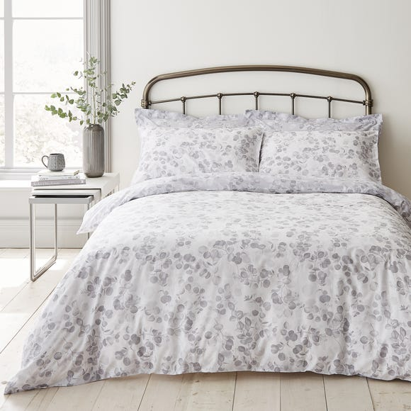 Piper Grey 100% Cotton Reversible Duvet Cover and Pillowcase Set  undefined