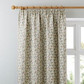 Dianna Duck Egg Pencil Pleat Curtains