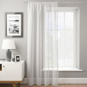 Dotty Silver Slot Top Voile Panel