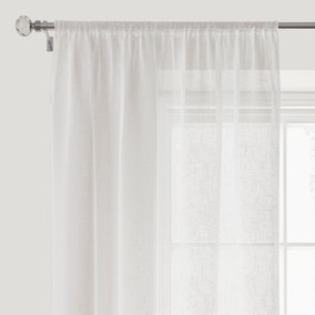 Boucle White Slot Top Voile Panel