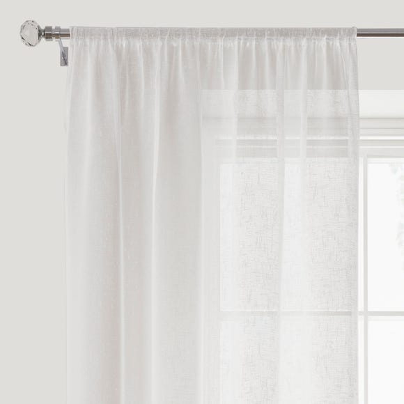 Boucle White Slot Top Voile Panel White undefined