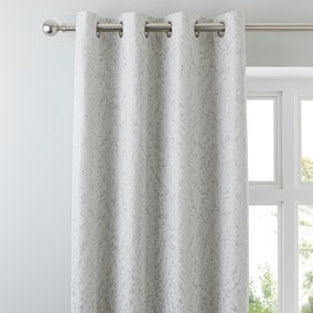 Patsy Leaf Cream Eyelet Curtains