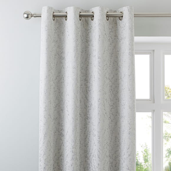 Patsy Leaf Cream Eyelet Curtains  undefined