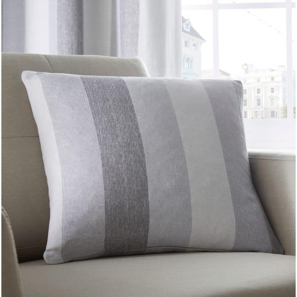 Wide Stripe Cushion Grey