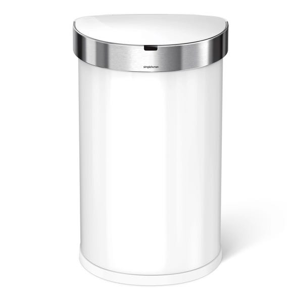 simplehuman 45 Litre White Sensor Bin White