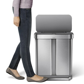 simplehuman 58 Litre Brushed Steel Recycling Bin