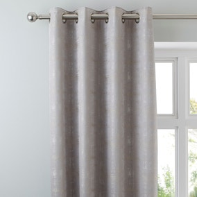 Dante Silver Eyelet Curtains