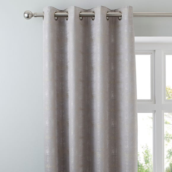Dante Silver Eyelet Curtains Silver undefined