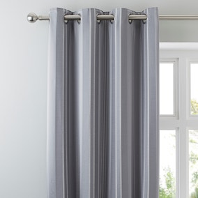 Manhattan Silver Eyelet Curtains