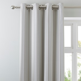 Manhattan Natural Eyelet Curtains