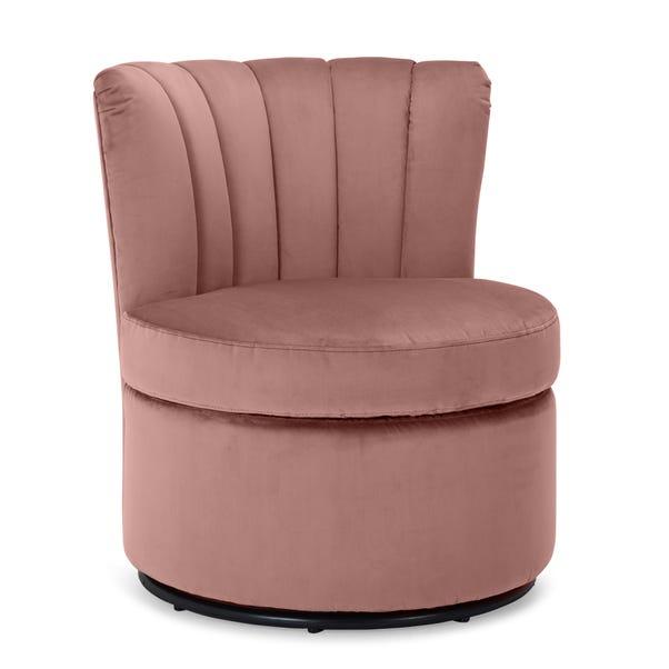 Esme Boudoir Swivel Chair - Blush Pink Blush Esme