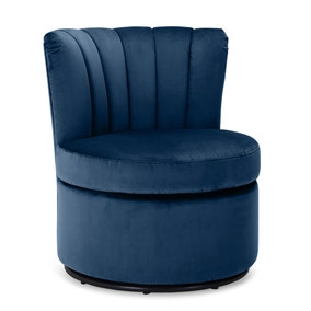 Esme Boudoir Swivel Chair - Midnight Blue