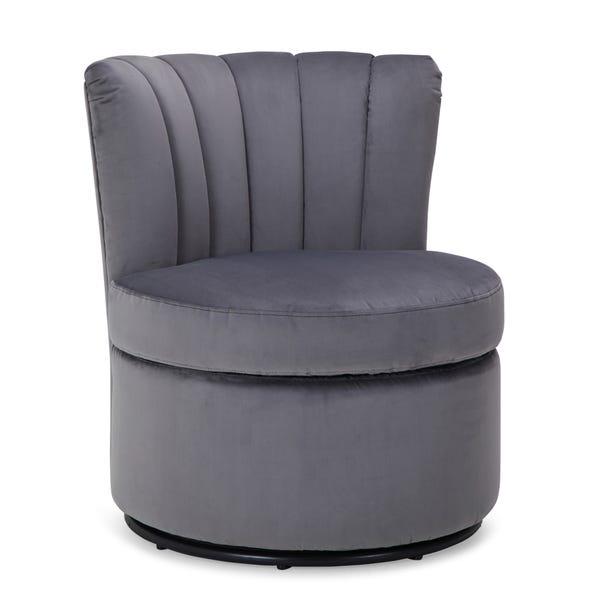 Esme Boudoir Swivel Chair - Grey