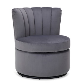 Esme Boudoir Swivel Chair - Grey