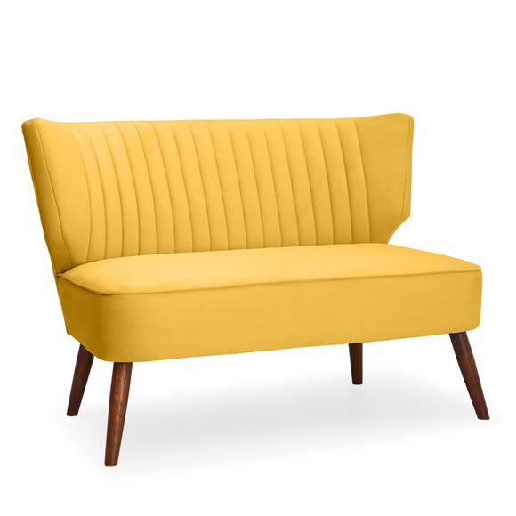 Eva 2 Seater Cocktail Sofa - Yellow