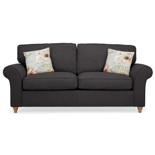 Rosa 3 Seater Sofa Charcoal