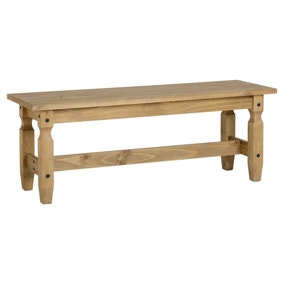 Corona 4ft Dining Bench Pine