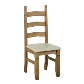 Corona Pine Pair of Cream Dining Chairs
