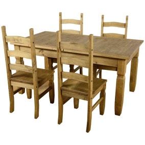 Corona Extending 4 Seater Dining Set
