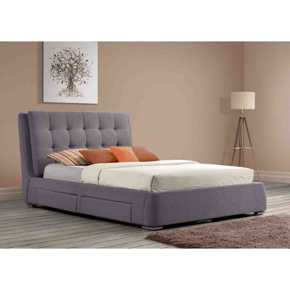 Mayfair Fabric Storage Bed Frame Grey