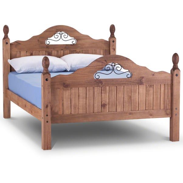 Corona Scroll Bed Frame Natural