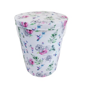 Heavenly Hummingbird Blue Laundry Basket