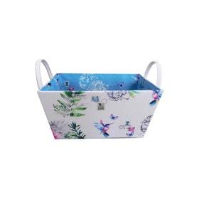 Hummingbird Blue Storage Basket