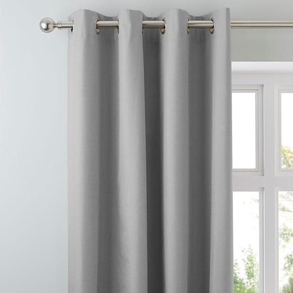 Arizona Soft Grey Blackout Eyelet Curtains Grey undefined