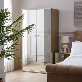 Harriet Mirrored Gents Wardrobe