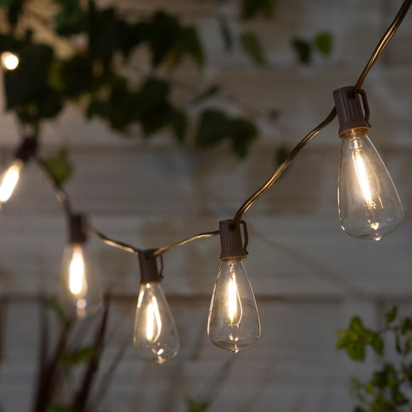 Elements 10 LED Solar Outdoor String Lights Warm White