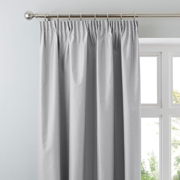 Nova Silver Blackout Pencil Pleat Curtains  undefined