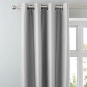 Nova Silver Blackout Eyelet Curtains