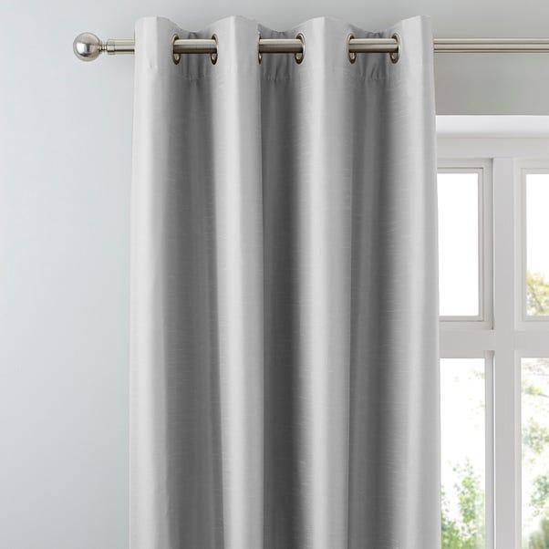 Nova Silver Blackout Eyelet Curtains  undefined