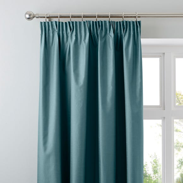 Nova Teal Blackout Pencil Pleat Curtains  undefined