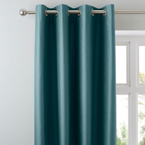 Nova Teal Blackout Eyelet Curtains