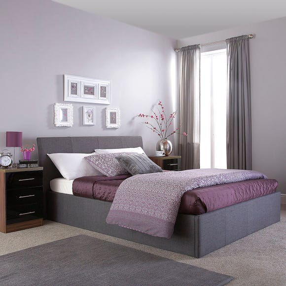 Ascot Grey Upholstered Ottoman Bed  undefined