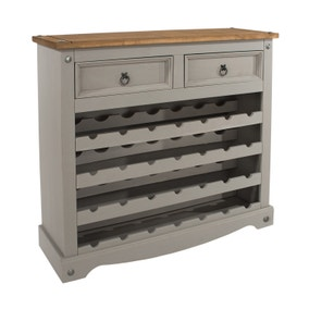 Corona Grey Large Wine Rack