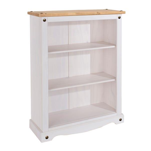 Corona White Low Bookcase White