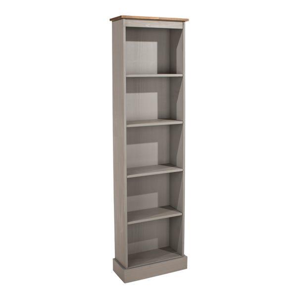 Corona Grey Tall Narrow Bookcase Grey