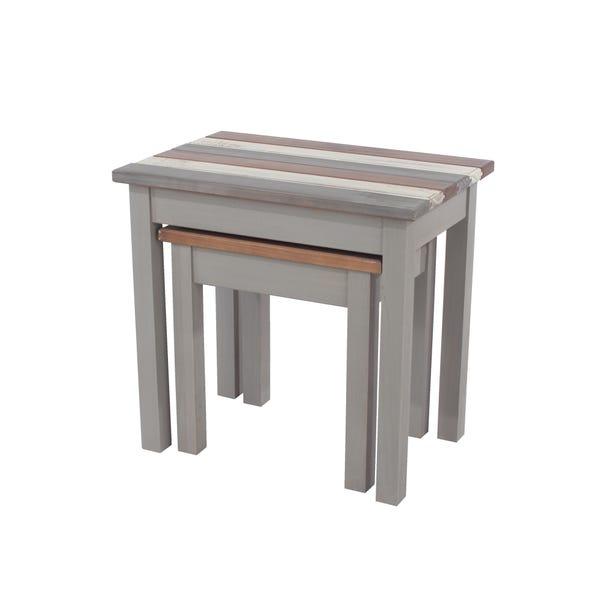 Corona Vintage Nest of 2 Tables Grey