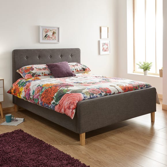 Ashbourne Fabric Ottoman Bed Grey undefined