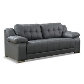Coco 3 Seater Leather Sofa