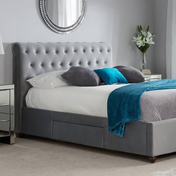 Marlow Velvet Storage Bed Frame Grey undefined