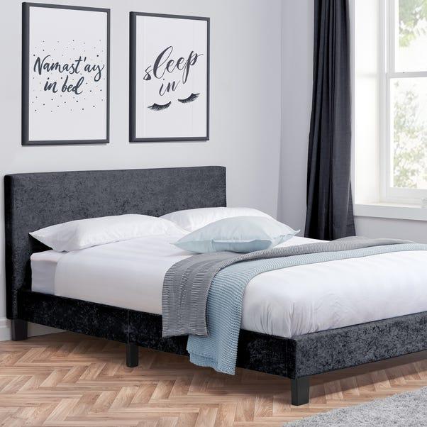 Berlin Crushed Velvet Bed Frame Black undefined