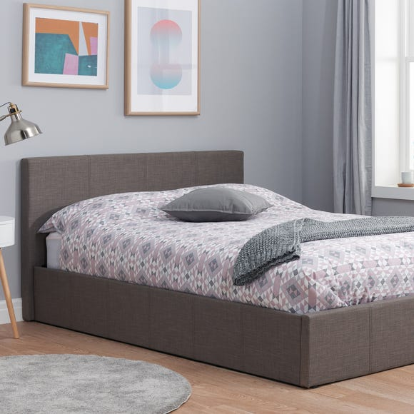 Berlin Upholstered Ottoman Bed Grey undefined