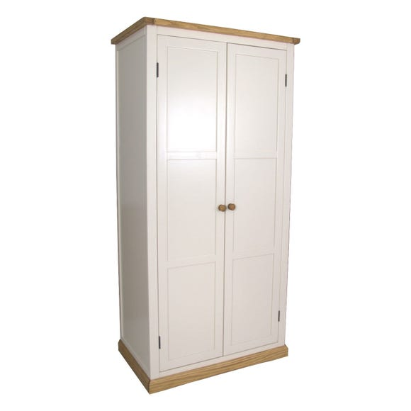 Colby Double Wardrobe White