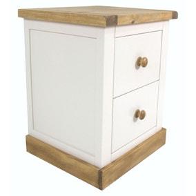 Ashland Wooden 2 Drawer Wide Bedside