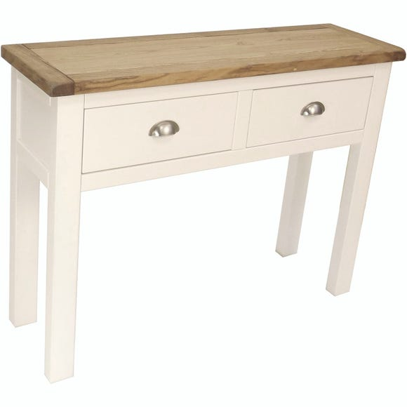 Kansas Silver 2 Drawer Console Table