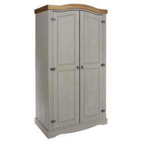 Corona Grey 2 Door Wardrobe